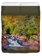 Cascade Of Water Duvet Cover