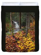 Cascade Creek  Autumn Duvet Cover