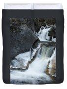 Cascades At Kent Falls Duvet Cover