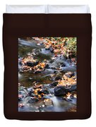 Cascading Autumn Leaves On The Miners River Duvet Cover