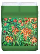 Cascading Day Lilies Duvet Cover