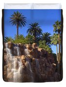 Cascading Rocky Waterfall Duvet Cover