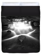 Cascading Waterfall Black And White Duvet Cover