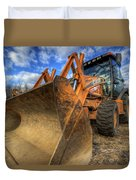 Case Backhoe Duvet Cover