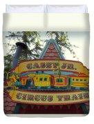 Casey Jr Circus Train Fantasyland Signage Disneyland Duvet Cover