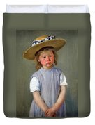 Cassatt's Child In A Straw Hat Duvet Cover