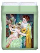 Cassatt's Mother And Child Duvet Cover
