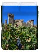 Ripe On The Vine Castelle Di Amorosa Duvet Cover