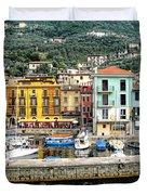 Castelleto Harbor.italy Duvet Cover