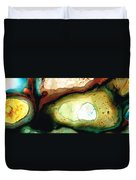 Casting Shadows - Earthy Abstract By Sharon Cummings Duvet Cover