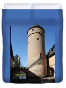 Castle Courtyard Duvet Cover