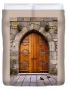 Castle Door Duvet Cover by Carlos Caetano