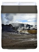 Castle Geyser In Yellowstone National Park Duvet Cover