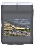Castle Geyser - Yellowstone Duvet Cover