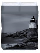 Castle Hill Lighthouse Bw Duvet Cover