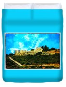 Castle In The Hot Summer Sun Duvet Cover