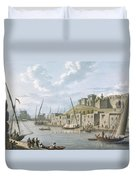 Castle In The Island Of Tortosa, 1805 Duvet Cover