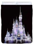 Castle In Winter Duvet Cover