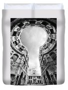 Castle Keyhole In Black And White Duvet Cover