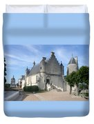 Castle Loches - France Duvet Cover