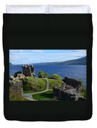 Castle Ruins On Loch Ness Duvet Cover