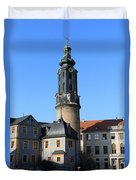 Castle Tower And Castle Weimar Duvet Cover