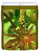 Castor Bean Leaf And Pod Duvet Cover