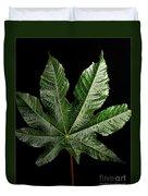 Castor Bean Leaf Duvet Cover