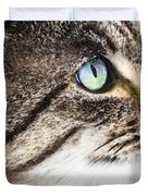 Cat Art - Looking For You Duvet Cover by Sharon Cummings