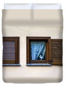 Cat At The Window Duvet Cover