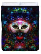 Cat Carnival Duvet Cover by Klara Acel