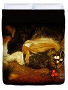 Cat Catnapping Duvet Cover
