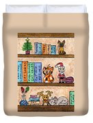 Cat Chrismas Shelves Duvet Cover