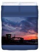 Cat Grader Sunset Silhouette Duvet Cover by Alanna DPhoto