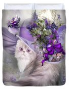 Cat In Easter Lilac Hat Duvet Cover