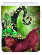 Cat In Fancy Witch Hat 2 Duvet Cover