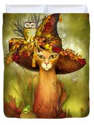 Cat In Fancy Witch Hat 3 Duvet Cover