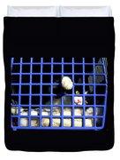 Cat In Pet Carrier Duvet Cover