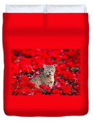 Cat In Red Duvet Cover