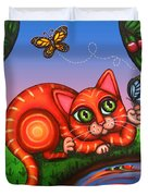 Cat In Reflection Duvet Cover