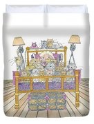 Cat Lady - In Bed Duvet Cover
