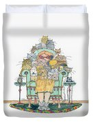 Cat Lady - In Chair Duvet Cover by Mag Pringle Gire