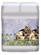 Cat Mint Wc On Paper Duvet Cover