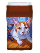 Cat Out Of The Bag Duvet Cover
