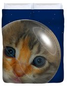 Cat Planet Duvet Cover