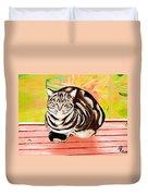 Cat Relaxing Duvet Cover