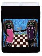 Cat Romance Duvet Cover
