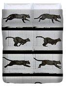 Cat Running Duvet Cover