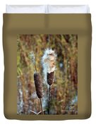 Cat Tail Seeds Duvet Cover