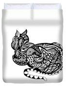 Cat With Design Duvet Cover